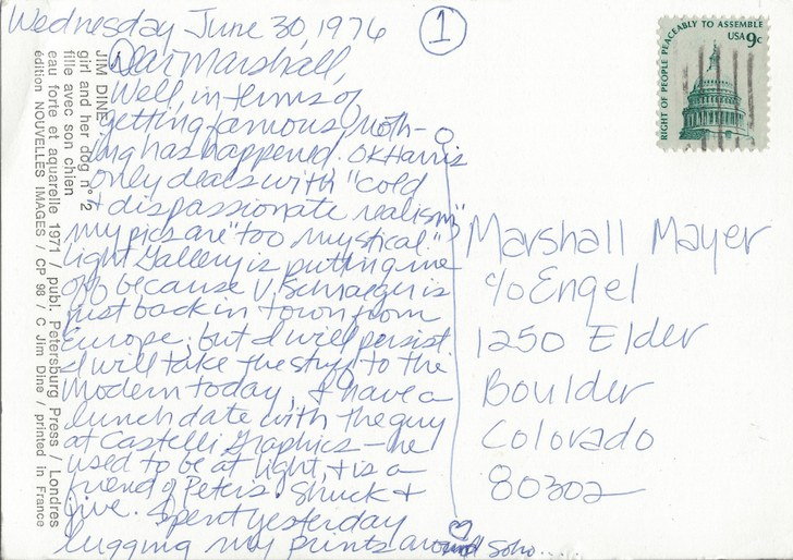 Bonnie Lambert to Marshall Mayer (1 of 3)