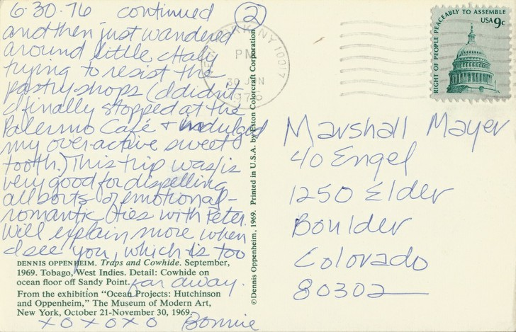 Bonnie Lambert to Marshall Mayer (2 of 3)